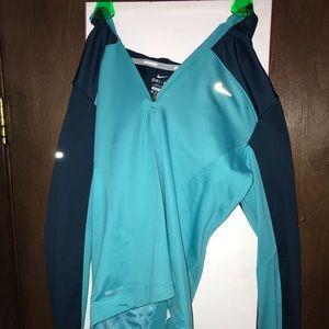 Dark blue and light blue hoodie